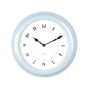 Modré nástěnné hodiny Present Time Fifties, průměr 30cm