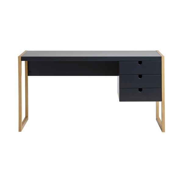 Square antracitszürke íróasztal, 140 x 75 cm - Marckeric