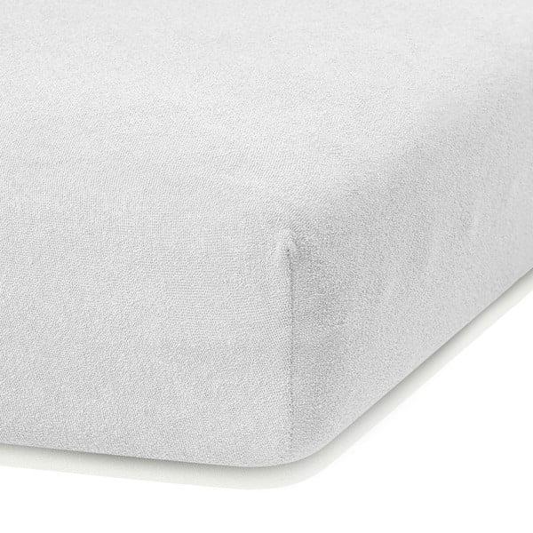 Cearceaf elastic AmeliaHome Ruby, 200 x 80-90 cm, alb