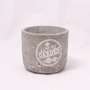 Cementový květináč Garden, 11 cm