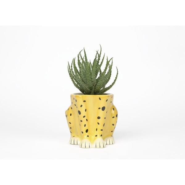 Keramický květináč DOIY Cheetah, výška 15 cm