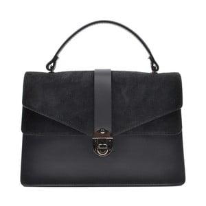 Černá kožená kabelka Mangotti Largotte