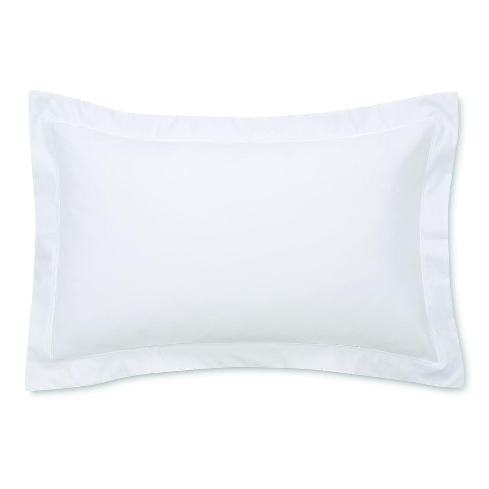 Bílý povlak na polštář z bavlněného saténu Bianca Luxury, 50 x 75 cm