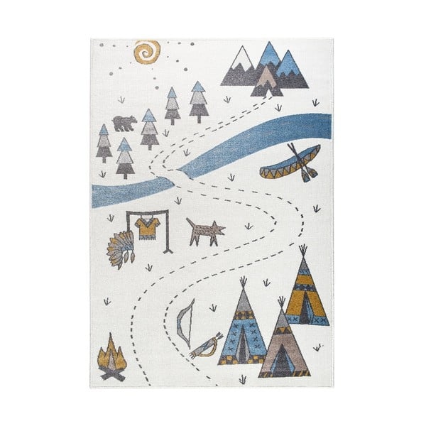 Light Pearl világos szőnyeg indiános mintával, 220 x 280 cm - KICOTI