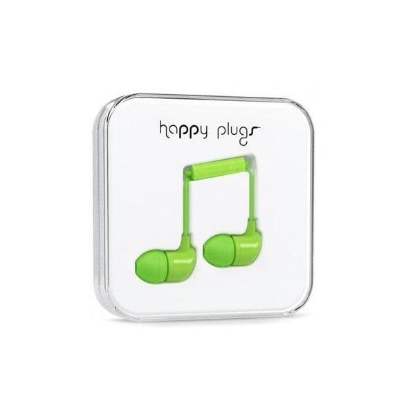 Sluchátka s nástavci Happy Plugs, zelená