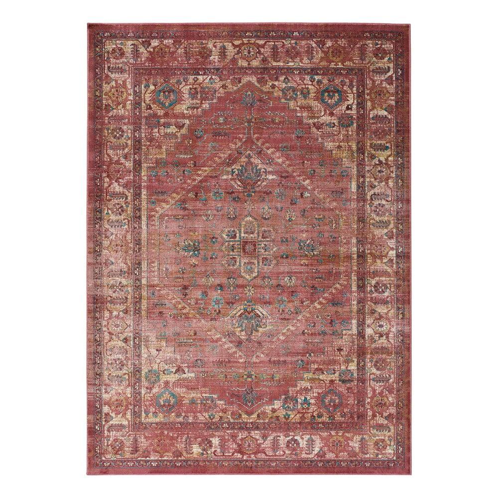 Červený koberec z viskózy Universal Vintage Retro, 120x170cm