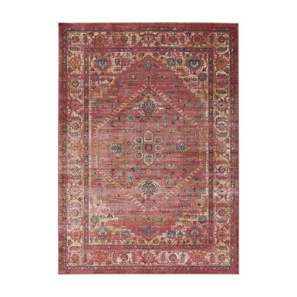 Červený koberec z viskózy Universal Vintage Retro, 120 x 170 cm