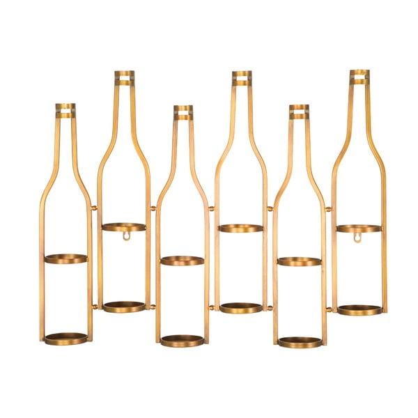 Uchwyt ścienny na butelki w złotej barwie Mauro Ferretti Marcello, 71x57 cm