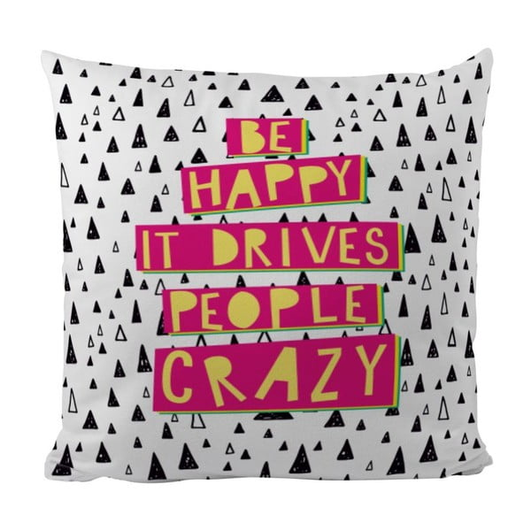 Polštář Be Happy, 50x50 cm
