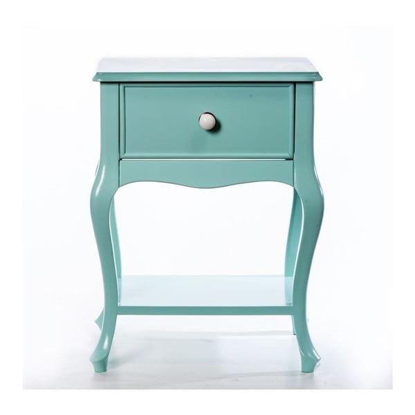 Odkládací stolek Purl Light Green, 44x33x60 cm