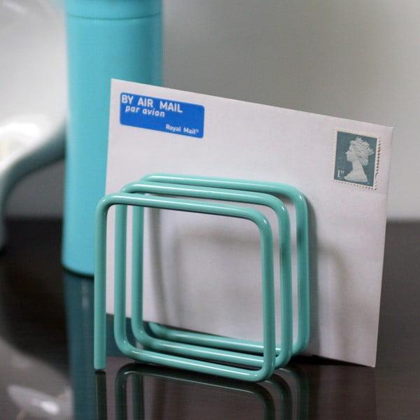 Modrý stojan na dopisy Letter Rack