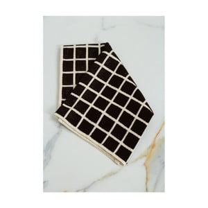 Hnědo-černý bavlněný ručník My Home Plus Spa, 45 x 70 cm