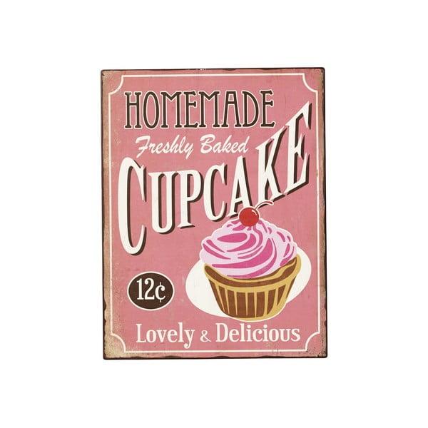 Plechová cedule Home Cupcake, 40x31 cm