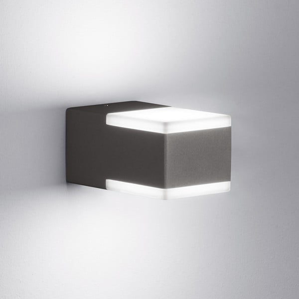 Venkovní nástěnné světlo Don Antracit, 7 cm