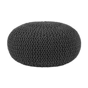 Černý pletený puf LABEL51 Knitted , Ø70cm