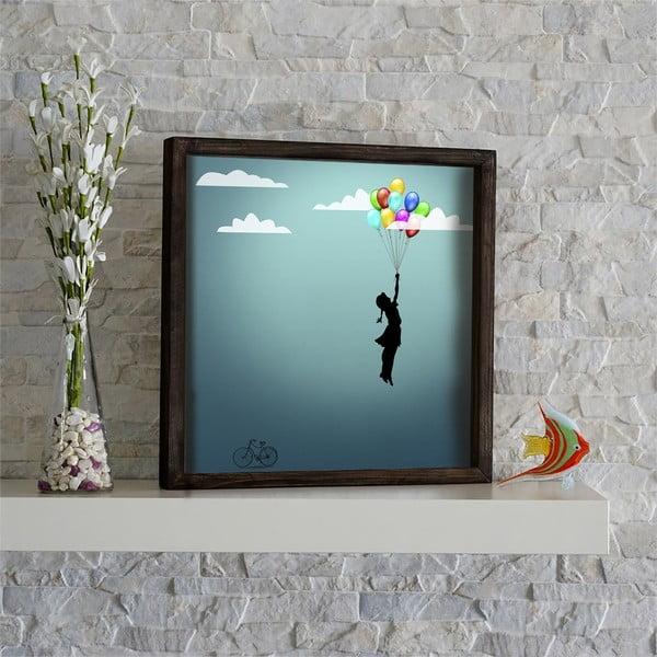 Nástěnný obraz Baloons, 34 x 34 cm