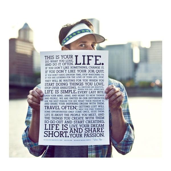 Plakát Manifesto White, 30x41 cm