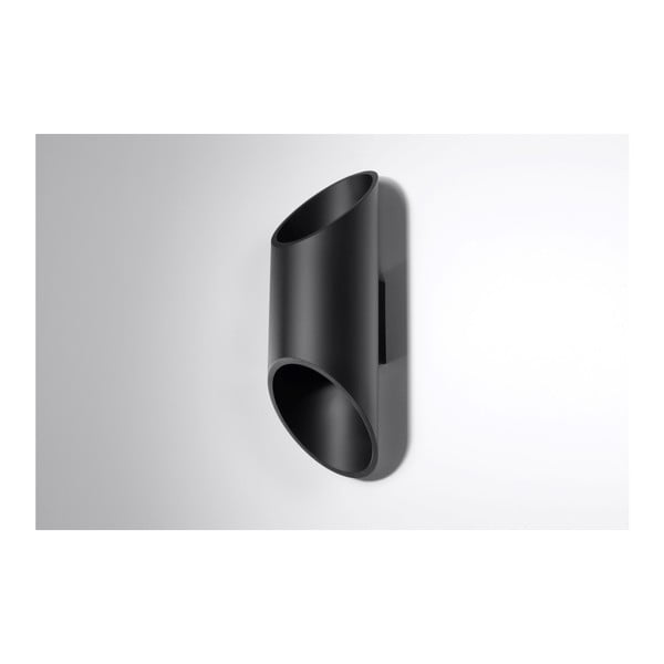 Černé nástěnné světlo Nice Lamps Nixon, délka30cm
