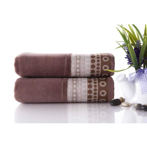 Set dvou ručníků Golf Brown, 50x90 cm