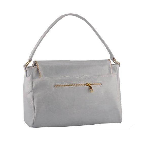 Kožená kabelka Diadema, šedá