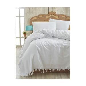 Lehký přehoz přes postel Cintan White, 200x240cm