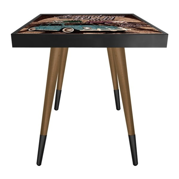 Príručný stolík Caresso Gathering Brothes Around The World Square, 45 × 45 cm