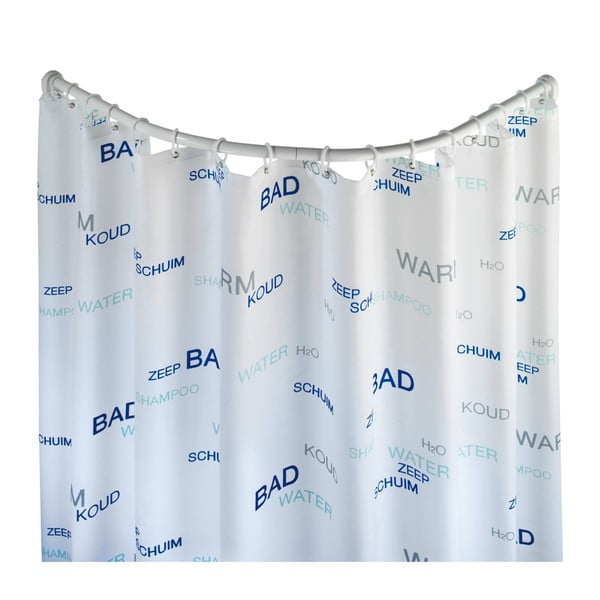 Fehér hajlított zuhanyfüggöny tartó - Wenko