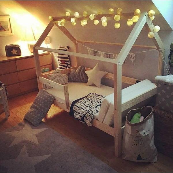 Dětská bílá postel s vyvýšenými nohami Benlemi Tery,90x190cm,výška nohou20cm