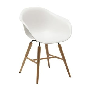 Sada 4 bílých jídelních židlí Kare Design Forum Object