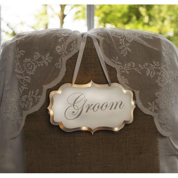 Svatební dekorace s LED světly Groom