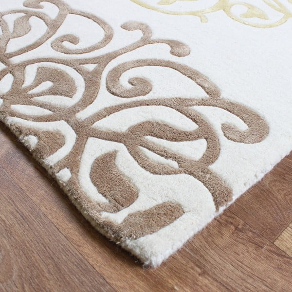 Vlněný koberec Tangier Cream 200x300 cm