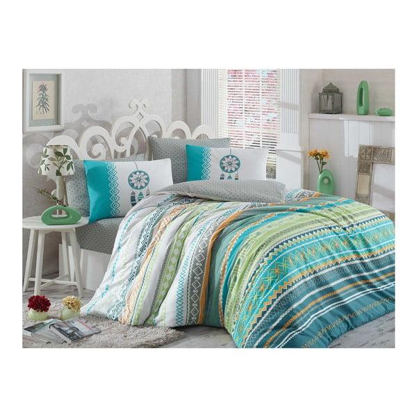 Lenjerie de pat cu cearșaf Eva, 200 x 220 cm, verde