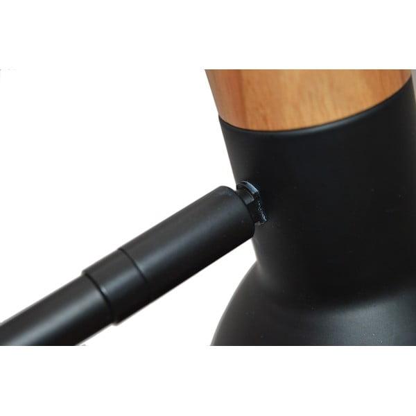 Černá stolní lampa Ewax Woody