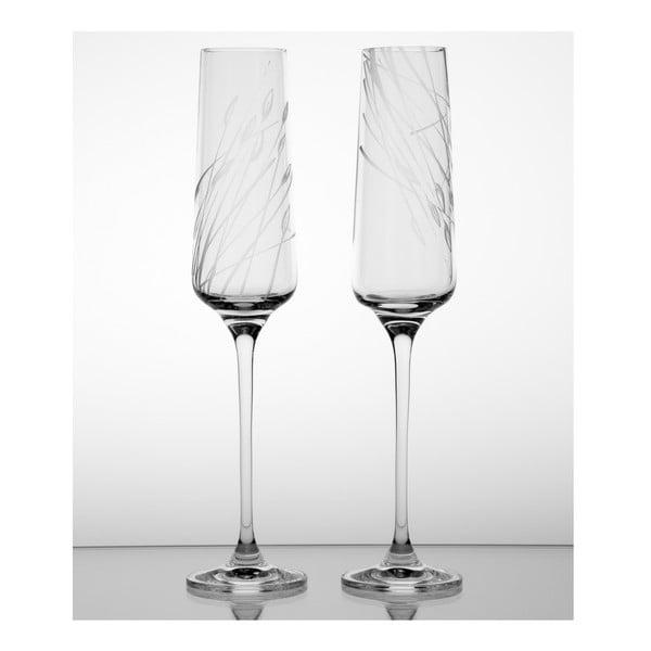Ateliér Žampach, set  2 ks skleniček na šampaňské Áron