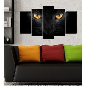 5dílný obraz Kočičí oči