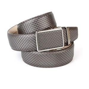 Pánský kožený pásek 17B70 Grey, 90 cm