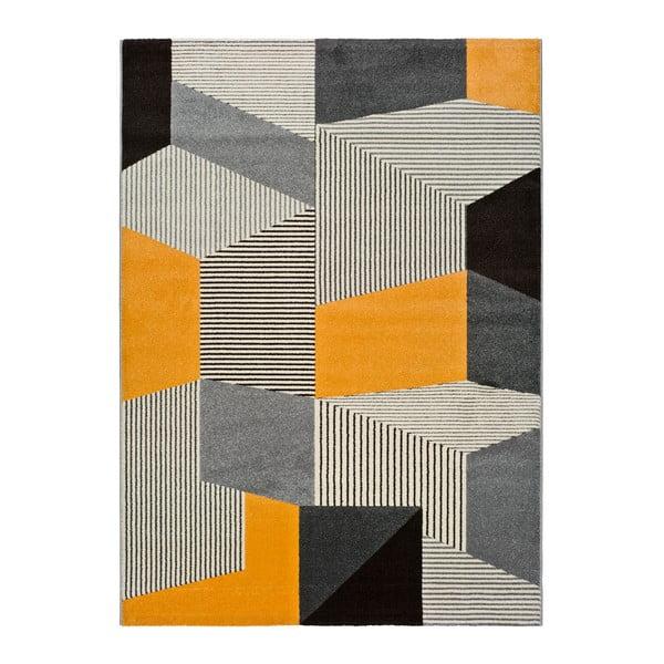 Covor Universal Leo Grey, 140 x 200 cm, gri-portocaliu