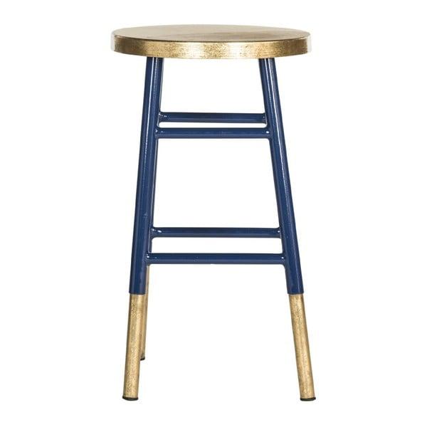 Stolička Counterstool, modro-zlatá