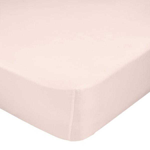 Světle růžové elastické prostěradlo Happy Friday Basic, 140x200cm