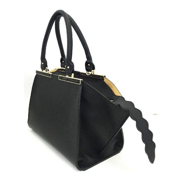 Kožená kabelka Desideria Black