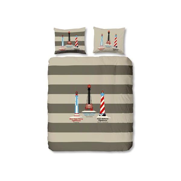 Povlečení Lighthouses Grey, 200x200 cm