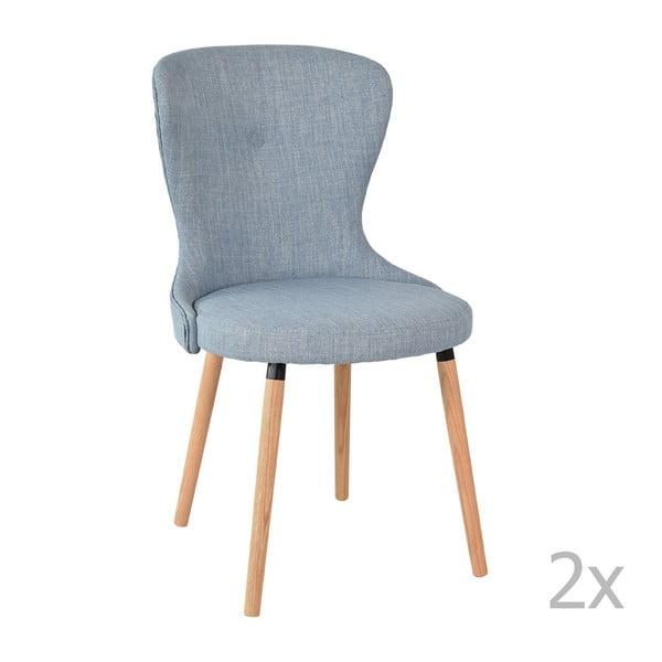Sada 2 modrých židlí RGE