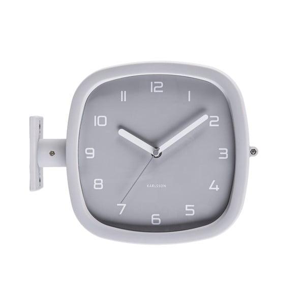 Szary zegar ścienny Karlsson Slides, 29x24,5 cm