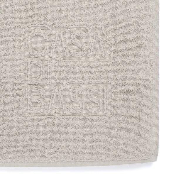 Světle šedá bavlněná koupelnová předložka Casa Di Bassi Basic,50x70cm