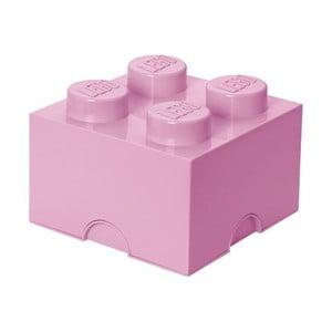 Světle růžová úložná kostka LEGO®