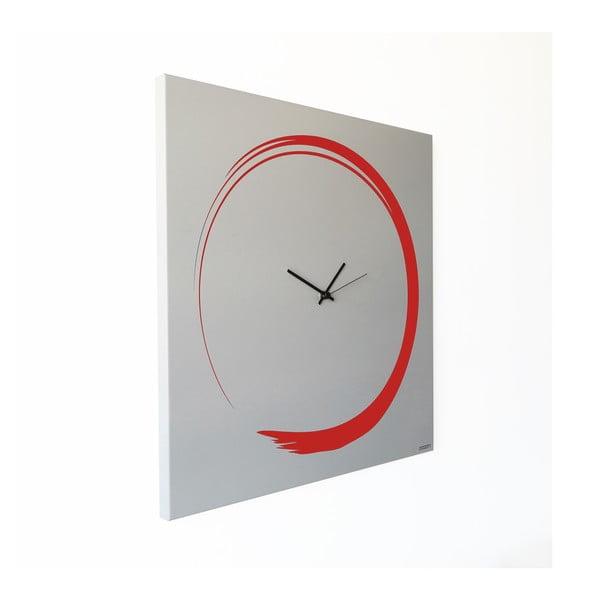 Nástěnné hodiny dESIGNoBJECT.it Enso Clock Red,50x50cm