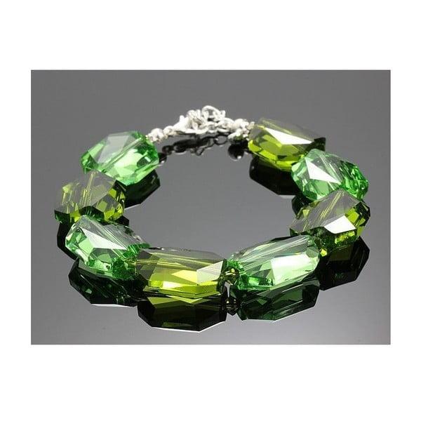 Náramek Swarovski Elements Large Drops Green