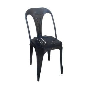 Kovová retro židle Sofian, černá