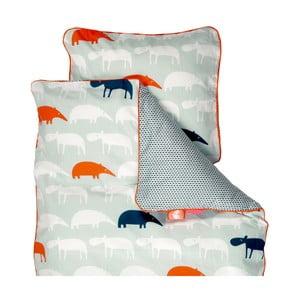 Lenjerie de pat pentru copii Done By Deer Zoopreme, 100 x 130 cm, albastru