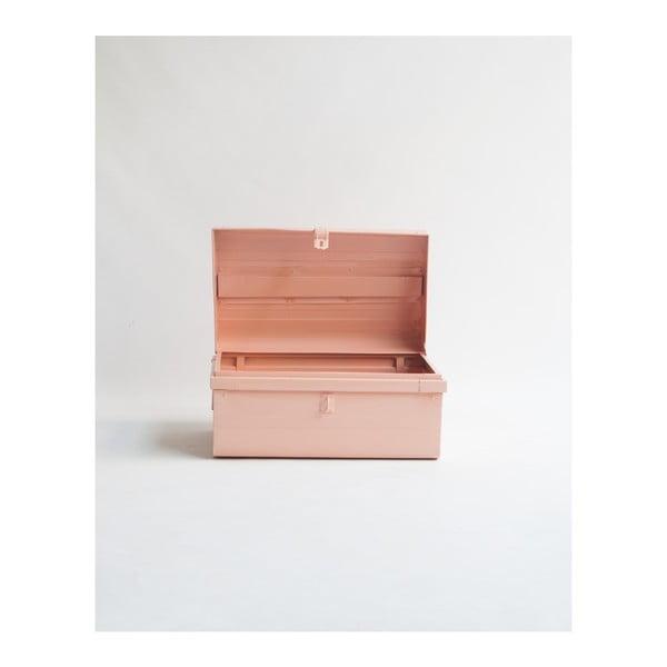 Sada 2 růžových úložných boxů Surdic Trunks